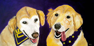 Painting - Lsu Fans by Debi Starr