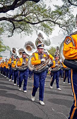 Louisiana State University Photograph - Lsu Marching Band 2 by Steve Harrington