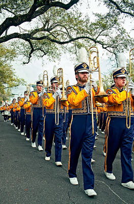 Louisiana State University Photograph - Lsu Marching Band 3 by Steve Harrington