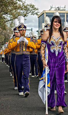 Louisiana State University Photograph - Lsu Marching Band 5 by Steve Harrington