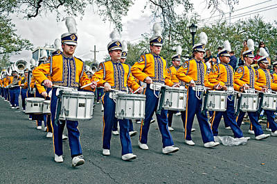 Louisiana State University Photograph - Lsu Marching Band by Steve Harrington
