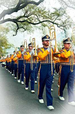 Marching Band Photograph - Lsu Marching Band Vignette by Steve Harrington