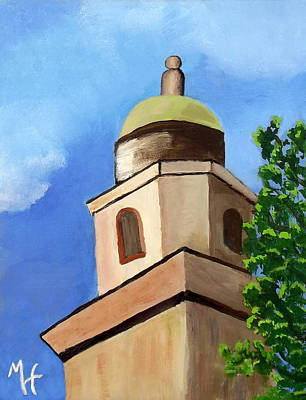 Art Print featuring the painting Lsu Memorial Tower by Margaret Harmon
