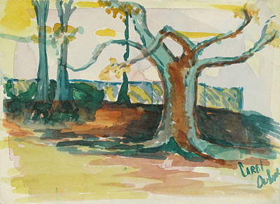 Lsu Oaks Cypress Knees Art Print