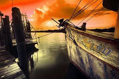 Digital Art - Lsu Shrimp Boat by Michael Thomas