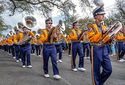 Louisiana State University Photograph - Lsu Tigers Band 2 by Steve Harrington