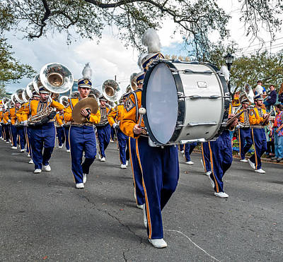 Louisiana State University Photograph - Lsu Tigers Band 3 by Steve Harrington