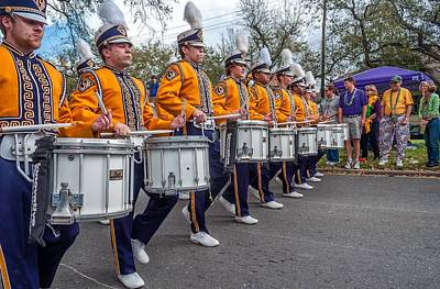 Louisiana State University Photograph - Lsu Tigers Band 4 by Steve Harrington