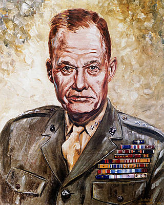 Lt Gen Lewis Puller Art Print by Mountain Dreams