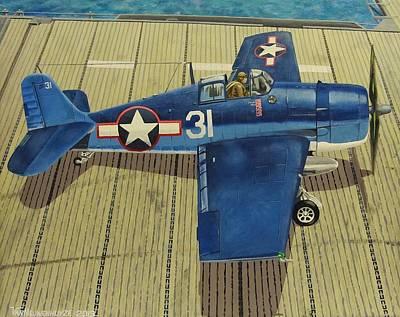 Grumman F6f Hellcat Painting - Lt. Martin's F6f Hellcat by Robert VanNieuwenhuyze