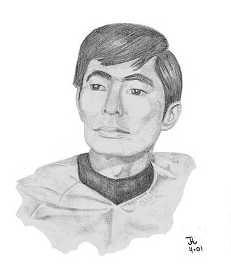 Drawing - Lt. Sulu by Thomas J Herring