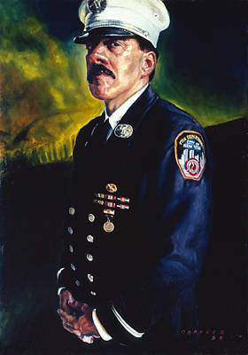 Fire Equipment Painting - Lt.mojica by Jesse Gardner