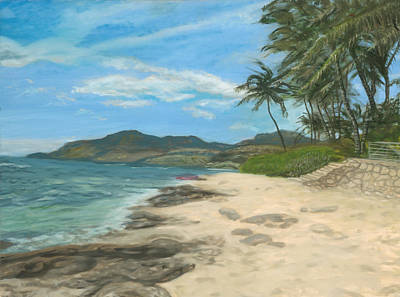 Painting - Lualualei Beach by Michael Allen Wolfe