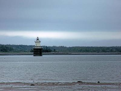 Photograph - Lubec Channel Light by Gene Cyr