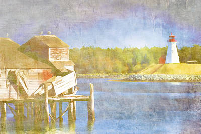 Maine Landscapes Digital Art - Lubec Maine To Campobello Island by Carol Leigh