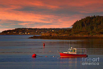 Lubec Sunset Art Print by Jerry Fornarotto