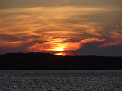 Photograph - Lubec Sunset by Nancy Fillip
