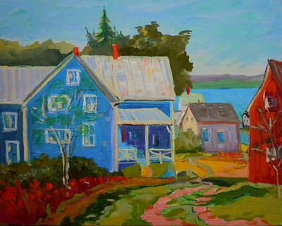 Lubec Village Art Print