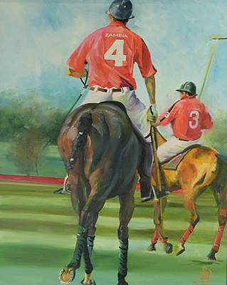Polo Pony Painting - Lubombo Open by Sally Buffington