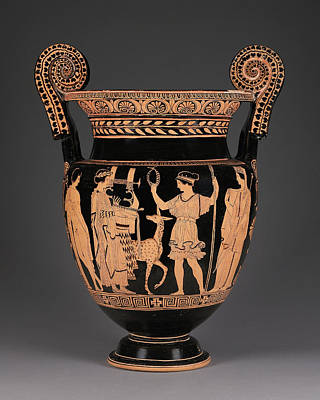Lucanian Red-figure Volute Krater Attributed To The Palermo Print by Litz Collection