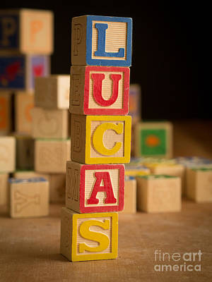 Photograph - Lucas - Alphabet Blocks by Edward Fielding