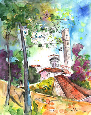 Lucca In Italy 01 Art Print by Miki De Goodaboom