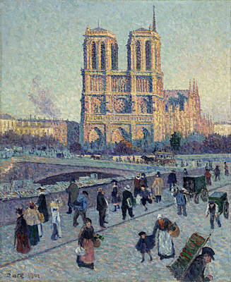 Notre Dame Street Painting - Luce Notre-dame, 1901 by Granger