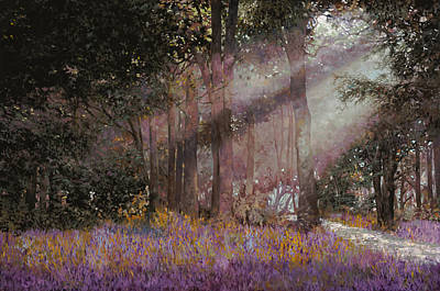 Lavender Painting - Luci by Guido Borelli