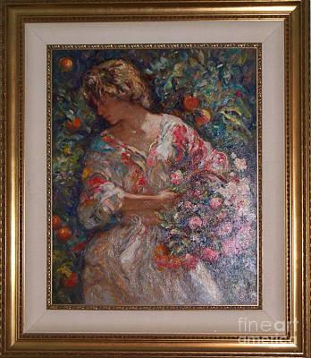 Simbari Painting - Lucia Entre Naranjos by Jose ROYO