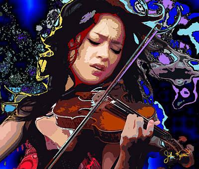 Digital Art - Lucia Micarelli by John Keaton