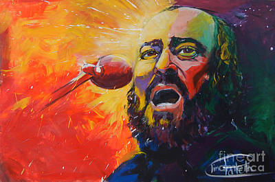 Tim Painting - Luciano Pavarotti by Tim Patch