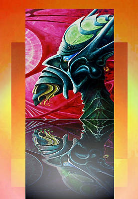 Legends Of The Fall Painting - Lucifer  Reflection by Hartmut Jager
