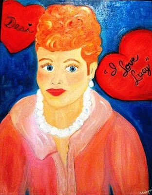Painting - Lucile Ball by Debby Reid