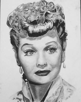 Drawing - Lucille Ball by Aaron Balderas