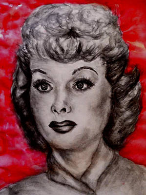 Lucille Drawing - Lucille Ball by Ashley Henry