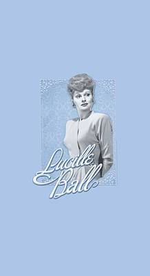 With Love Digital Art - Lucille Ball - Blue Lace by Brand A