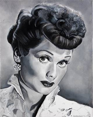 Ricky Painting - Lucille Ball by Brian Broadway