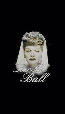 With Love Digital Art - Lucille Ball - Glowing by Brand A