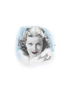 With Love Digital Art - Lucille Ball - In Blue by Brand A