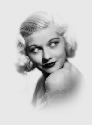 Lucille Ball Pencil  Art Print