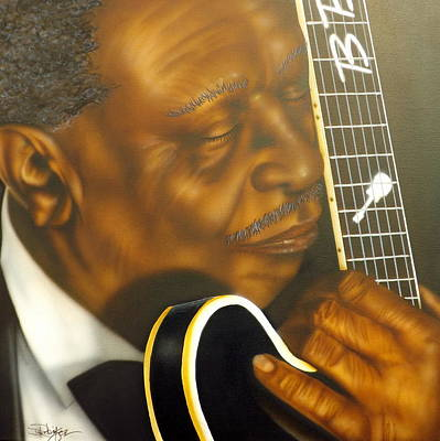 B.b.king Painting - Lucille by Darren Robinson