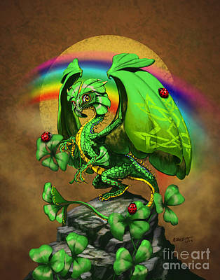Ladybug Digital Art - Luck Dragon by Stanley Morrison