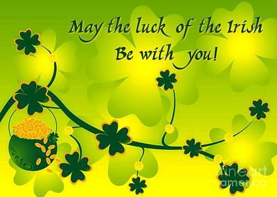 Digital Art - Luck Of The Irish by JH Designs