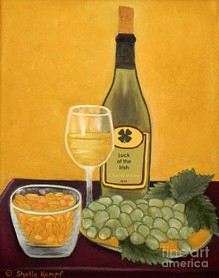 Painting - Luck Of The Irish - Wine by Shelia Kempf