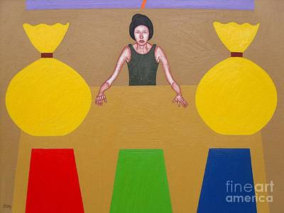 T- Ball Painting - Lady Luck by Patrick J Murphy