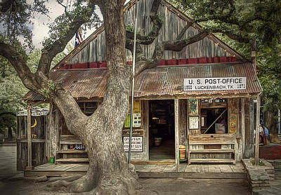 Sign Photograph - Luckenbach 2 by Scott Norris