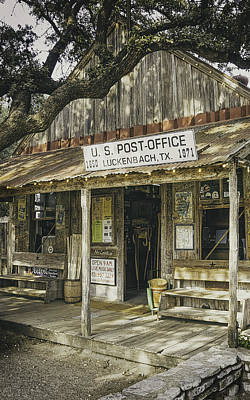 Weathered Photograph - Luckenbach by Scott Norris