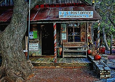 Photograph - Luckenbach Texas Painted by Judy Vincent
