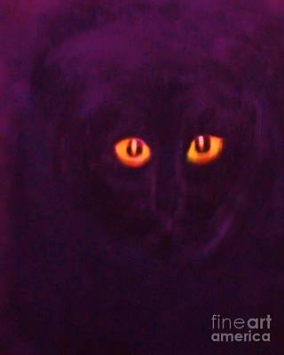 Painting - Lucky Black Cat by Rachel Carmichael