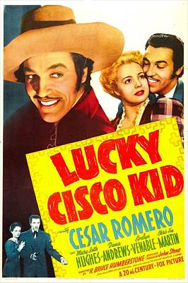 Lucky Cisco Kid, Us Poster, Top Art Print